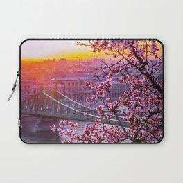 Cherry Blossom Bridge Laptop Sleeve
