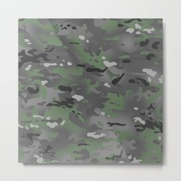 Camouflage: Arctic Green and Grey Metal Print