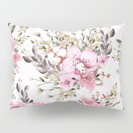 Roses Orchids and Wild Flowers Pillow Sham