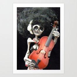Day of the Dead: La Violinista Art Print