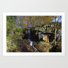 Waterfall at Lumsdale Art Print