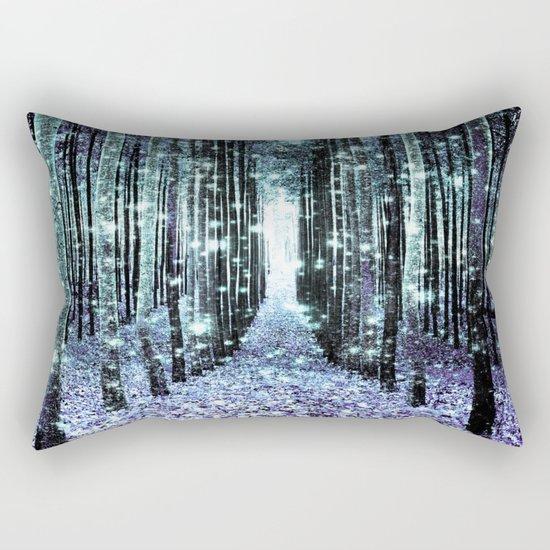 Magical Forest Lavender Aqua/Teal Rectangular Pillow