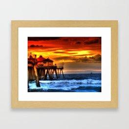 Northside Huntington Beach Pier Framed Art Print