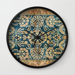 Sarouk  Antique West Persian Rug Print Wall Clock
