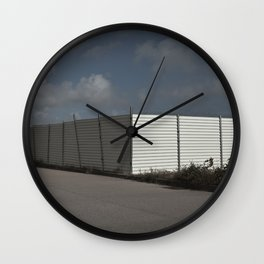 White Barrier Wall Clock