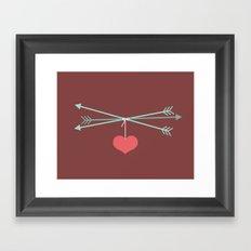 Captured Arrows Framed Art Print
