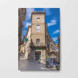 Pharmacy Tower Metal Print