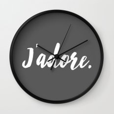 j'adore Wall Clock