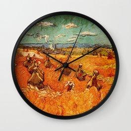 Van Gogh, millstones  – Van Gogh,Vincent Van Gogh,impressionist,post-impressionism,brushwork,paintin Wall Clock