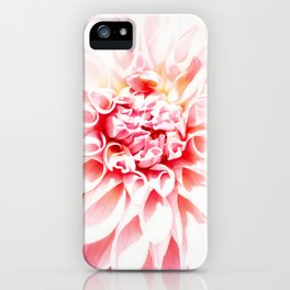 Pale Pink Dahlia iPhone Case