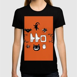 My Neighbour Creatures in Satsuki's dress orange T-shirt