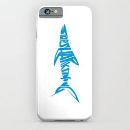 Stop Shark Finning (blue) iPhone Case