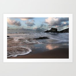 Trevone Bay, Cornwall, England, United Kingdom Art Print