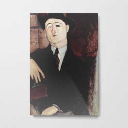 Paul Guillaume by Amedeo Modigliani Metal Print