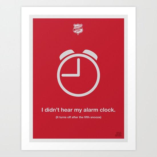 Alarm Clock Art Print