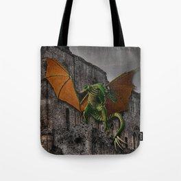 Dragon & Castle Artwork Tote Bag