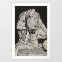 gladiator Art Prints featuring Gladiator by Ethan Hellexon