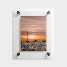 Ibiza Sunrise | Boat | Travel photography | Fine Art Floating Acrylic Print
