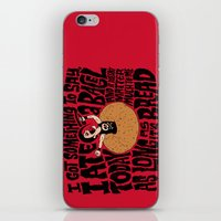 misfits iPhone & iPod Skins featuring Last Bagel Caress by Chris Piascik
