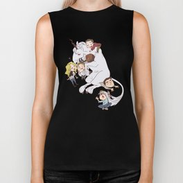 teens and wolves and unicorns Biker Tank