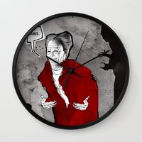 dracula Wall Clocks featuring Dracula by Ed Pires