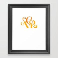 CVR throwback Framed Art Print