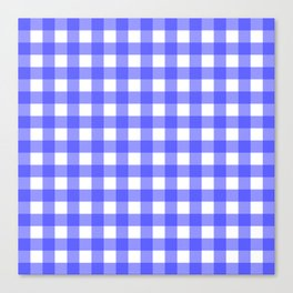 Plaid (Blue & White Pattern) Canvas Print