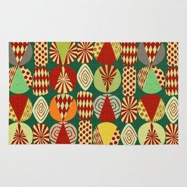 Christmas tree Minimalist green Rug