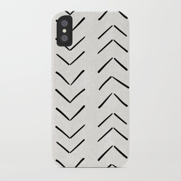 mud cloth big arrows in cream iphone case