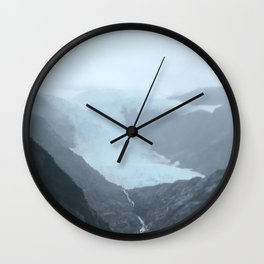 Retreating Glacier Wall Clock