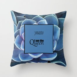 Princess and Queen succulents Throw Pillow