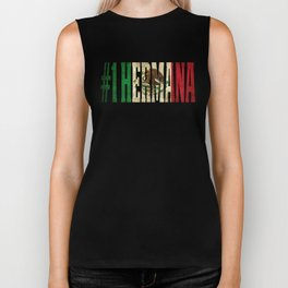 Hermana Gift Mexican Design For Mexican Flag Design For Mexican Pride Vintage Flag Biker Tank