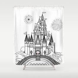 Mouse in Love at Midnight Shower Curtain