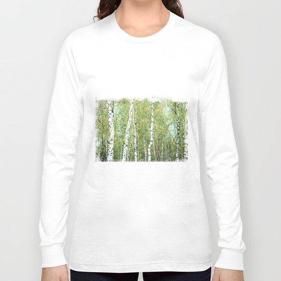 the birch forest III Long Sleeve T-shirt