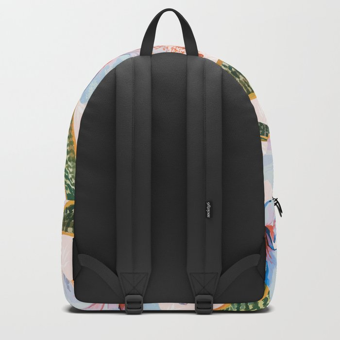 Tropical Pattern - Flowers and Plants Backpack