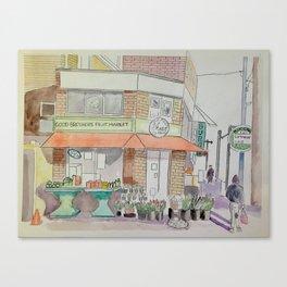 Pape & Bloor Toronto Canvas Print