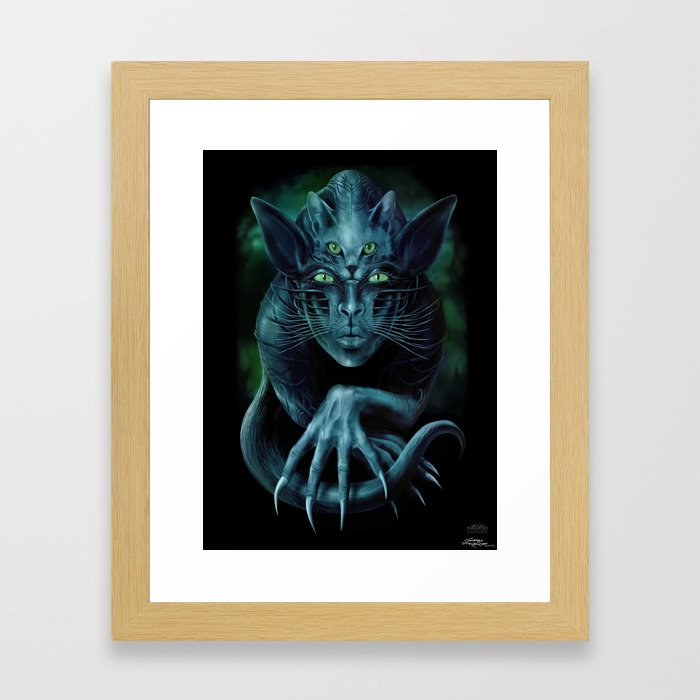 Cat People Framed Art Print