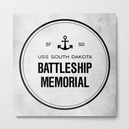 Battleship Memorial Metal Print
