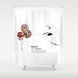 POP ART DICTIONARY Shower Curtain
