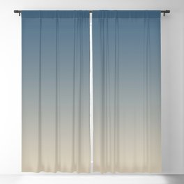 Blue & Beige Gradient Ombre Blend Inspired by Chinese Porcelain PPG1160-6 & Alpaca Wool PPG14-19 Blackout Curtain