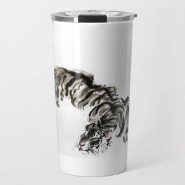 tiger watercolor japan style chinese ink Travel Mug
