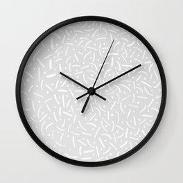 hypnotic grey smiles Wall Clock