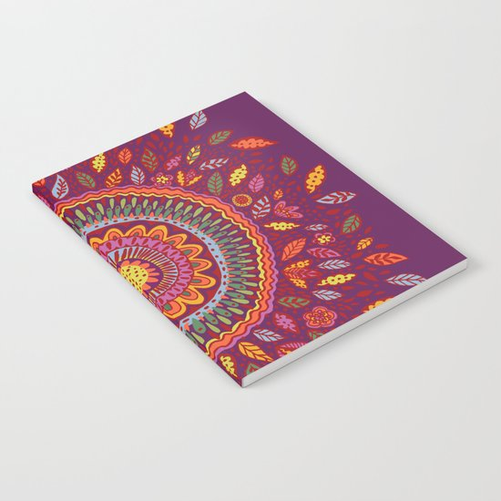 Leafy Fall Mandala Notebook
