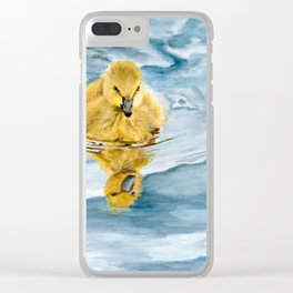 Is That Me? - Canadian Goose Gosling Acrylic Painting by Teresa Thompson Clear iPhone Case