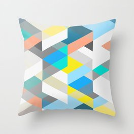 Bold Halequin Throw Pillow