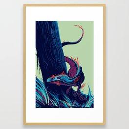 Allosaurus Framed Art Print