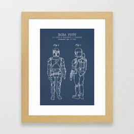 Boba Fett blueprint Framed Art Print