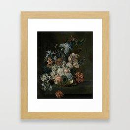 Still Life with Flowers, Cornelia van der Mijn, 1762 Framed Art Print