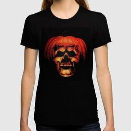 Halloween II Pumpkin Skull Stained Glass T-shirt