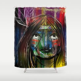 Beyond Tiger Lily Shower Curtain